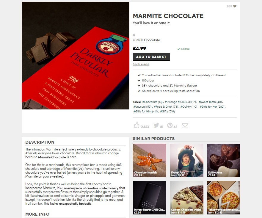 marmite chocolate product copy