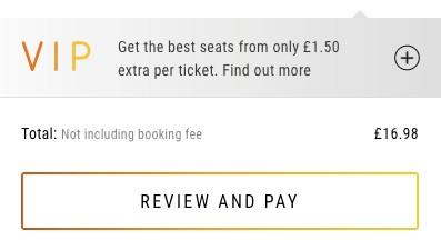 Vue online booking